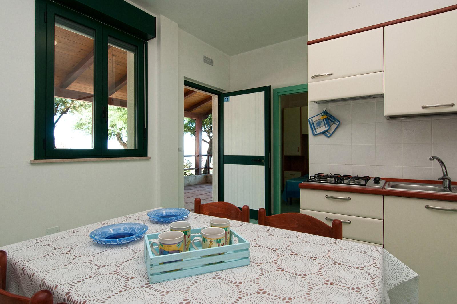 Angolo Cottura In Veranda : Villaggio azzurra i bilocali in muratura